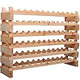 72 bottle wine rack - HOMCOM 72 Bottle Stackable Modular Wine Rack Storage Stand Display Shelves, Wobble-Free,6-Tier