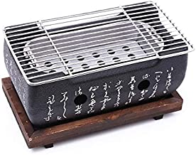 Nrpfell Japanese Korean BBQ Grill Oven Aluminium Alloy Charcoal Grill Portable Party Accessories Household Barbecue Tools