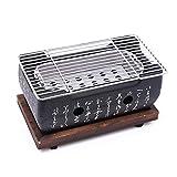 SODIAL Four Gril De Barbecue Coréen Japonais Gril De Charbon De Bois D'Alliage D'Aluminium Accessoires De Fête Portables Outils De Barbecue Domestiques