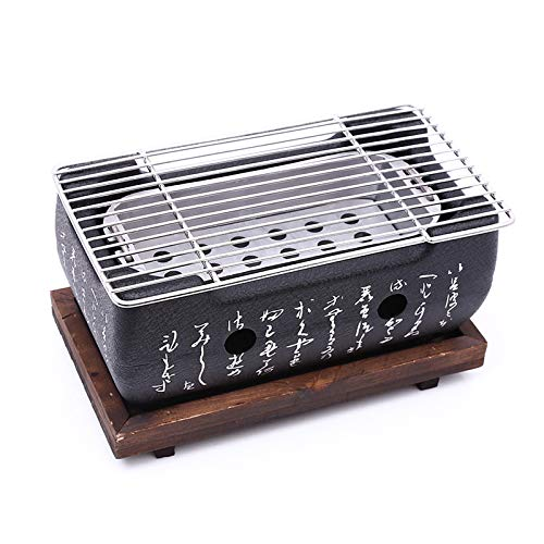 TOOGOO Japanisch Koreanisch BBQ Grill Ofen Aluminiumlegierung Holzkohlegrill Tragbare Party Zubeh?r Haushalt Grill Werkzeuge