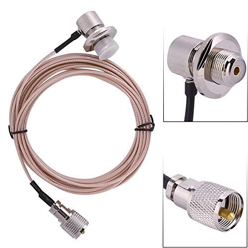 ASHATA Verliesarme man-vrouw verlengkabel, 5m RG-316 PL-259 Man-vrouw coaxiale verlengkabel Kabel Connector Antenne voor WalkieTalkie