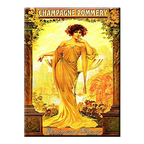 La Plakette Champagne Pommery - Art New 40 x 30 cm