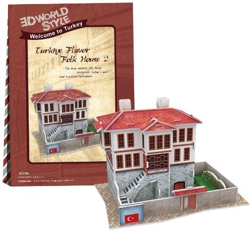 3D puzzle en trois dimensions 18 pi?ces 3D style World Series House2 W3110h (Japon import / Le paquet et le manuel sont ?crites en japonais)