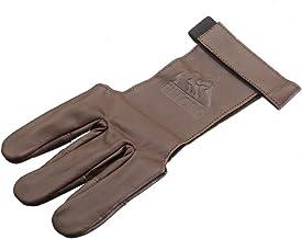 AIFUDA 2 St/ück Bogensch/ützer aus Leder Unterarmschutz mit 1 Packung Bogenschie/ßhandschuh Fingerlasche Verstellbare Schleife Armschutz DREI Finger Schutz f/ür Bogensch/ützer Hunter