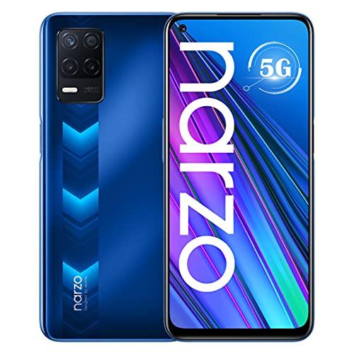 Realme Narzo 30 5G Smartphone Dual SIM 4 GB 128 GB Dimensity 700 Bildschirm FHD+ 6,5 Zoll bis 90 Hz 5000 mAh Kamera 48 MP Global Racing Version Blau