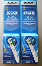 Oral B Floss Action Replacement Brush Head / 4 Heads (4 Ct) Powered By Braun