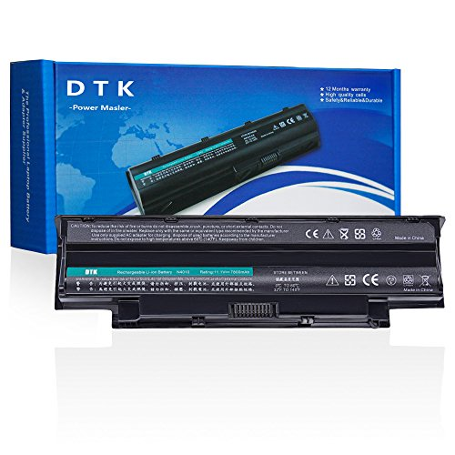 Dtk New High Performance Notebook Laptop Battery for Dell Inspiron 3420 3520 13r 14r 15r 17r N3010 N4010 N4050 N4110 N5110 N5010 M5110 M5010 M4110 M501,P/N J1knd 4t7jn [9-cell 7800mah]