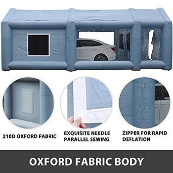 VEVOR Cabine de Peinture Gonflable Automobile 4 x 2.5 x 2.2 m Tente Gonflable Auto Pulvérisation Peinture Extérieur avec Souffleurs de Gonflage de Ventilation 350W / 750W pour Voiture