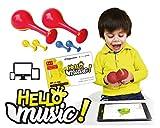 Voggenreiter Maracas - Set di percussioni per bambini a partire dai 12 mesi con software di apprendimento Hello Music per smartphone, tablet e computer (2 maracas incluse)