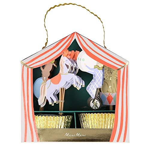 Juego de cupcakes de circo