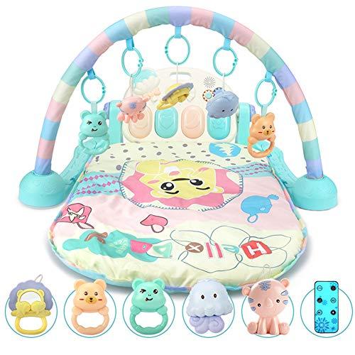 Baby Gym 2 en 1 Tapis Rampant Piano Multifonctionnel Jouets Éducatifs Clairs Et Sonores Cadeau Bébé Nouveau-né 0-2 Ans