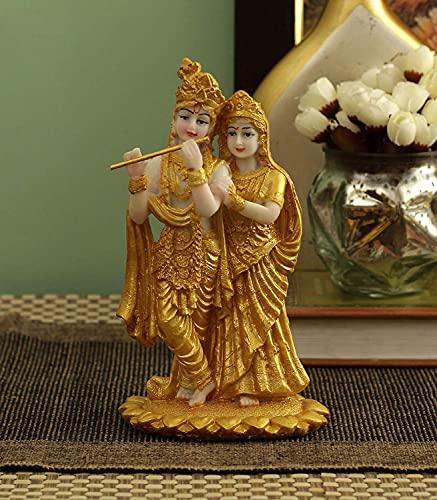 TIED RIBBONS Lord Radha Krishna Statue Skulpturen 19 cm hoch – Radha Krishna Hindu-Gott und Göttin Idol
