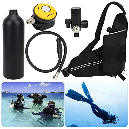 Hatirea Equipo de Buceo portátil con oxígeno para Dispositivos subacuáticos(Black)