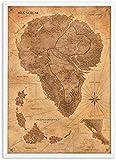 Refosian Jurassic Park Karte Poster Wandkunst Retro