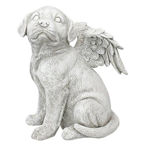Design Toscano LY7154092 Loving Friend, Memorial Pet Dog Statue, Large, Antique Stone