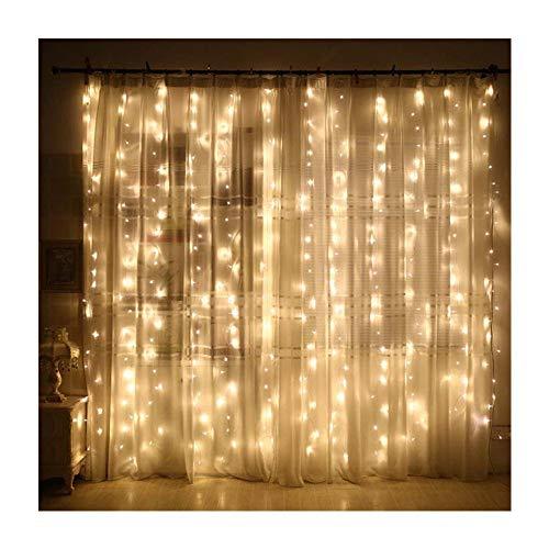 CLOOM Cortina de Luces, 300 LEDs Luz Cadena, Luz de Cortina, LED Guirnaldas Luminosas, Cadena De Luces, Perfecto para Decoración de Fiestas, Festival, Casa, Jardín, Boda