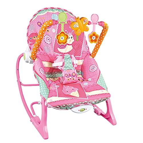 YUTEN Mecedora para niños pequeños, Silla de bebé múltiple con cojín, cinturón de Seguridad Elevador, Silla Mecedora 3 en 1 para Elegir el Color del bebé, Mecedora Transpirable Comfy