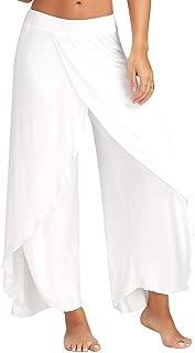 iLUGU Sexy Waist Wide 80S Leggings Leg Work Out Pants Flowy Womens Casual Summer Long Loose Yoga Sports Yoga
