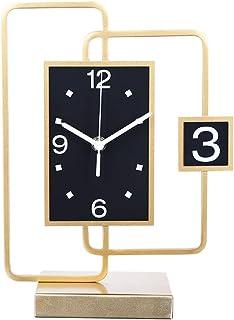ShiLiLiShop Pendulettes de Bureau Horloge De Bureau Art Table Horloge De Bureau Horloge Salon Décorations Mode Ménage De B...