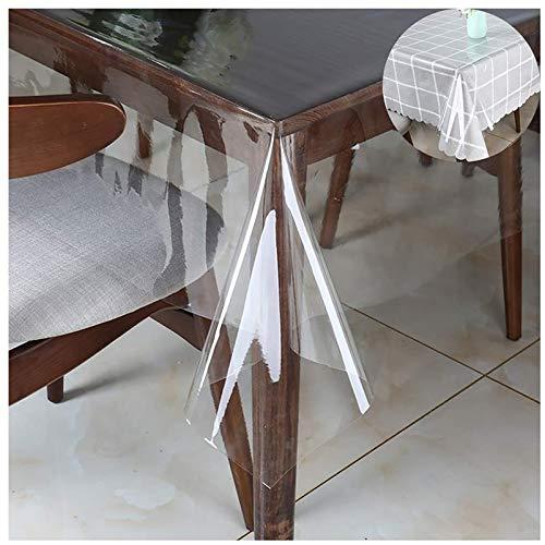 KEANCH Mantel De Vidrio Suave De PVC, Mantel Transparente Cubierta De Protección De Mesa A Prueba De Agua, Estera De Mesa A Prueba De Aceite De Cocina(Size:80x120cm,Color:A1.5mm)