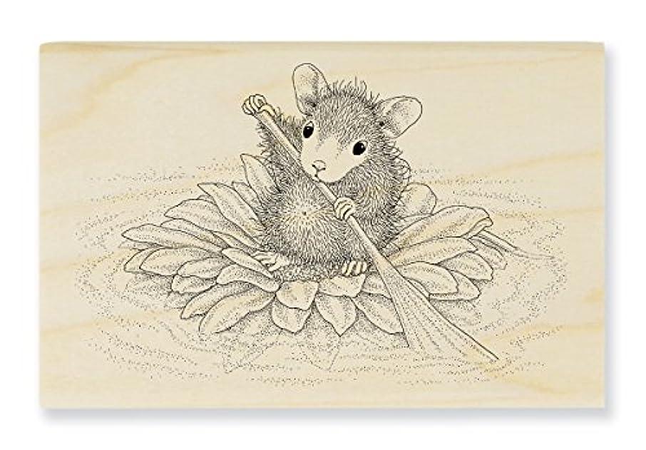 Stampendous HMM20 House Mouse Wood Stamp, Petal Paddler