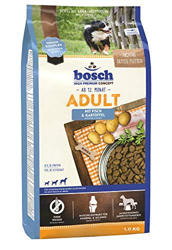 bosch Hundefutter Adult Fisch &  Kartoffel 1 kg, 5er Pack (5 x 1 kg)