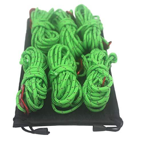 LilyJudy Paquete de 6 Cordones de Carpa para Exteriores de 4 Mm Cuerda Ligera para Acampar para Toldos de Carpa, Cobertizo para Toldos, Camping, Senderismo, Mochilero