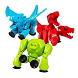 Zing Stikbot Mega Monsters, Complete Set of 3 Stikbot Collectable Monster Action Figures, Cerberus, Gigantus, and Scorch, Create Stop Motion Animation