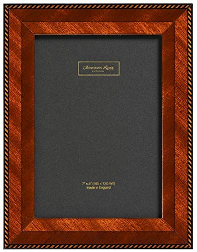 Addison Ross Brown Rope - Cornice per Foto in Legno con Intagli Decorativi, 10x15 cm, Pannello Posteriore in Fibra, Colore: Marrone