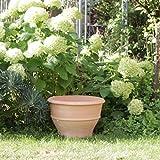 Macetero de cerámica de Kreta, hecho a mano, resistente a las heladas, 50 cm, grande, cerámica para exterior, jardín, terraza, decoración