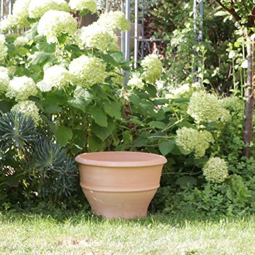 Pot de plantes en terre cuite, fabriqué à la main, haute qualité, résiste au gel, décor de jardin pot de fleurs 45 cm