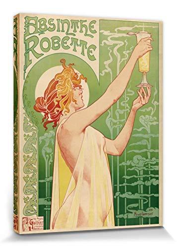 1art1 Historische Werbeplakate - Grüne Fee, Absinthe Robette, Henri Privat Livemont, 1896 Bilder Leinwand-Bild Auf Keilrahmen | XXL-Wandbild Poster Kunstdruck Als Leinwandbild 80 x 60 cm
