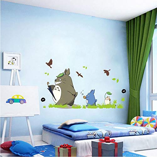 dongwenchao1104 Wandaufkleber Cartoon Animation Vinyl Totoro Wandaufkleber Für Kinderzimmer Cafe/Bar/Home Dekoration Poster Totoro Tapeten 60 * 90cm