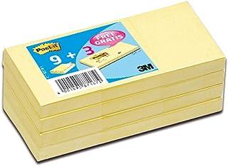 Post-it Pack Promo Notes jaunes 38x51mm, 9 blocs + 3 offerts