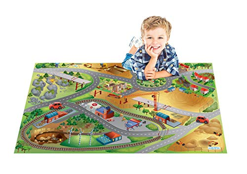 House Of Kids 11230-E3 - Playmat Quadri Chantier Connect, 100 x 150 cm
