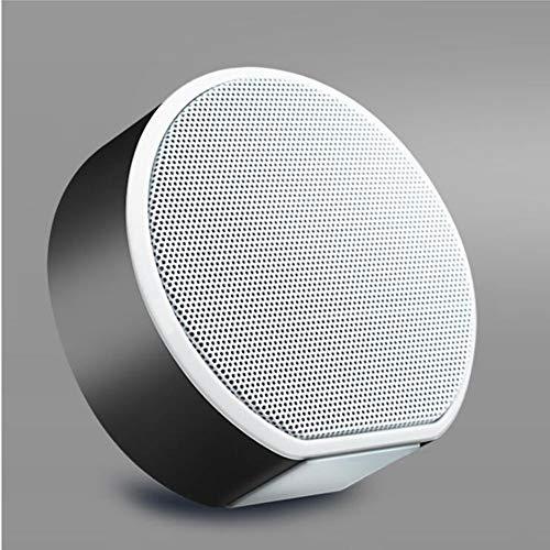 FENGFENGGUO Bluetooth-Lautsprecher, ultradünne 30-cm-Mini-Lautsprecher mit Holzmaserung, Sprachansage, Karte, Radio, Staubdicht, Anruffunktion,Black