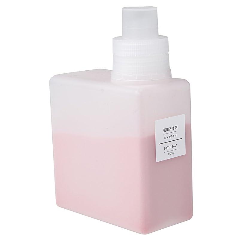 思慮深い盲信きつく無印良品 薬用入浴剤?ローズの香り (新)500g 日本製