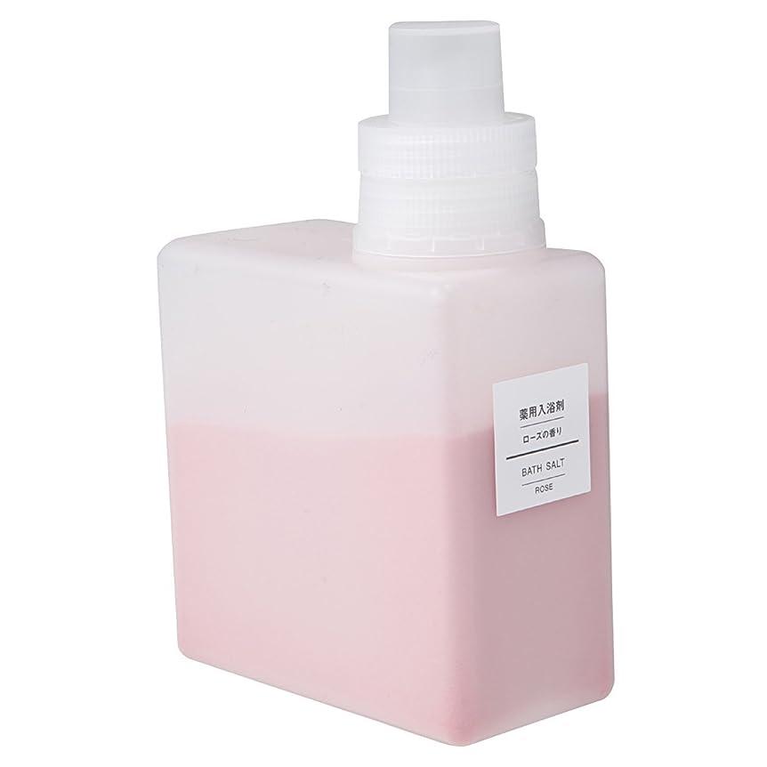 こしょうより平らな拮抗無印良品 薬用入浴剤?ローズの香り (新)500g 日本製