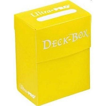 Asmodee - 82476 - Accessoire de jeu de cartes à jouer et à collectionner - Boîte de Rangement pour 75 Cartes Protégées - Jaune