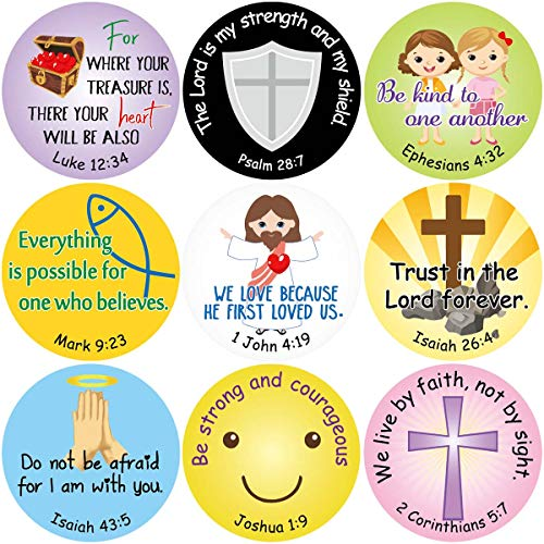 Fancy Land Bible Verse Stickers Christian Scripture Quotes for Church VBS 200PCS Per Roll