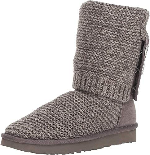 UGG Women s W PURL CARDY KNIT Fashion Boot charcoal 5 M US product image