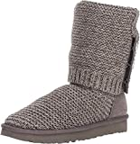 UGG Women's W Purl Cardy Knit Fashion Boot, charcoal, 6 M US