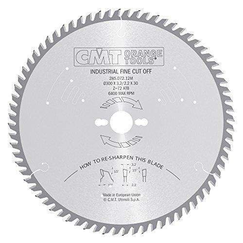 CMT Orange Tools 285.072.12M - Sierra circular 300x3.2x30 z 72 atb 15 grados silenciosa