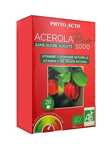 PHYTO ACTIF - Acérola Bio Sans Sucre 1000 - 26 cps