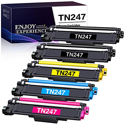 Zambrero Cartucho de Tóner Compatible Brother TN247 TN243 TN-243CMYK para Brother DCP-L3550CDW DCP-L3510CDW, HL-L3210CW HL-L3230CDW HL-L3270CDW, MFC-L3730CDN MFC-L3750CDW MFC-L3770CDW(5 Paquete)
