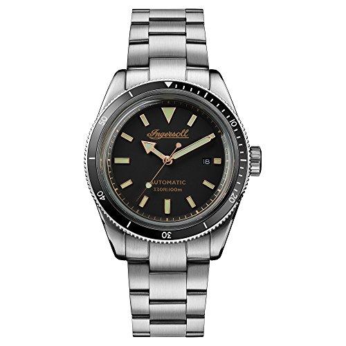 Ingersoll Herren Datum klassisch Automatik Uhr mit Edelstahl Armband I05005