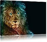 Dark Löwe, Natur, Afrika 100x70cm Bild auf Leinwand, XXL riesige Bilder fertig gerahmt mit Keilrahmen. Kunstdruck auf Wandbild mit Rahmen. Günstiger als Gemälde oder Ölbild, kein Poster oder Plakat