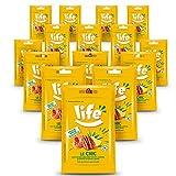 Life Le Chic Noci Pecan e Anacardi tostati con Lampone, Sciroppo d'agave e Limone 15x25 g, Snack ricoperto, Frutta secca snack, frutta secca monoporzione, spuntino sano, ingredienti di qualità