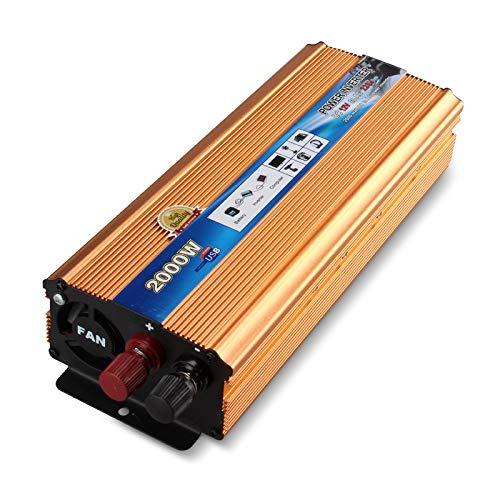 Inversor De Energia Convertidor de automóviles con Outlets y Puerto USB Tablet Tablet Tablet Game Console Inverter con Enchufe Británico (Color : Beige, Size : One Size)