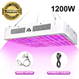 1200W LED Grow Light for Indoor Plants, Full Spectrum Double Switch Plant Grow Lights for Veg and Flower Growing Plants Lamp, Plant Growing Lights for Hydroponics Greenhouses Gardening (2019 Latest)